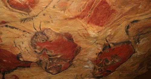 Reproduction of Altamira cave paintings in Munich's Deutsches Museum (Mattias Kabel)