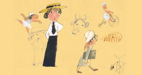 Illustration by Vladimir Radunsky from Mark Twain's Advice to Little Girls.