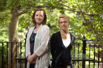 """Erin Reid, left, an assistant professor at Boston University, and Robin Ely, a professor at Harvard Business School. """"These 24/7 work cultures lock gender inequality in place,"""" Ms. Ely said. Photo Credit: Erik Jacobs for The New York Times"""